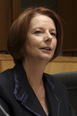Prime Minister Julia Gillard at the inaugural COAG Business Advisory Forum yesterday.