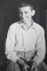 Cox as a boy.