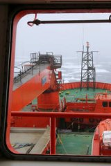 Trapped: The view from the bridge of the Aurora Australis.