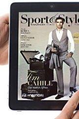 <em>Sport & Style</em> magazine on the iPad.