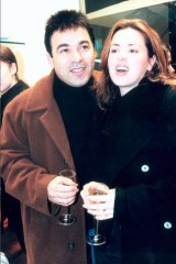 Don't ask … with her first husband, Ralph Carr, in 1996.