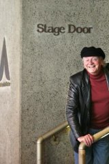 Bob Hornery at the Arts Centre stage door in 2003.