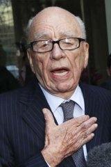 Rupert Murdoch: Small stake, huge say.