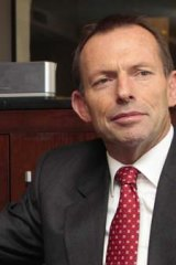 Standing firm ... Tony Abbott.