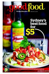 Cover of the Herald's Good Food, Tuesday.