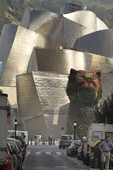 Dog days: Guggenheim Bilbao.