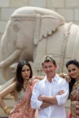 Brett Lee on a visit to India to show off his fashion line and foster interest in Australian-Indian business in 2011.