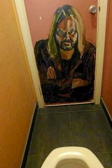 Ben Quilty's painting on Warwick Thornton's toilet door.