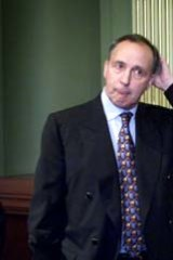 It's over ... Paul Keating and Don Watson at <i>Recollections'</i> launch.