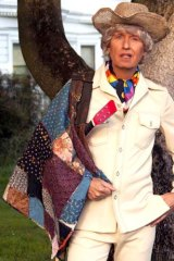 Straight shooter: The enigmatic Bob Downe strikes a pose at home.