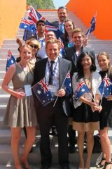 Australian delegates to the G20 YES summit.