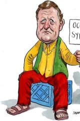 Leigh Clifford ... if you can't beat them, join them. <em>Illustration: John Shakespeare</em>