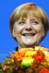 All smiles: Angela Merkel.