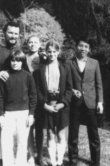 Maree Coote with her family at the Royal Botanic Gardens in the '70s.