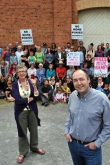 David Stretch, President of Enough Pokies in Castlemaine (centre), vows to 'keep fighting'.
