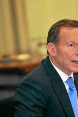 Stand-off: Tony Abbott.