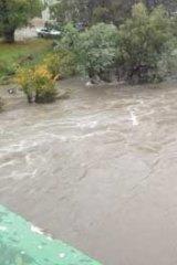 Merri Creek floods in Northcote.