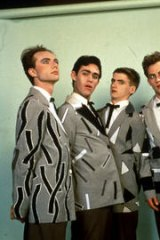 Neil Finn (third from left) in the cosmetically savvy heyday of Split Enz.