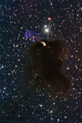 Herbig-Haro object HH 46/47: Jets emerging from a star-forming dark cloud.