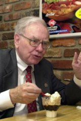 Never mind oysters and champagne - Warren Buffett is just as happy with a Dairy Queen sundae.