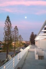 A view from the northern upstairs balcony area of the soon-to-be-completed Bathers Beach House.