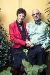 Life partners … Nitschke with his partner, Fiona Stewart.