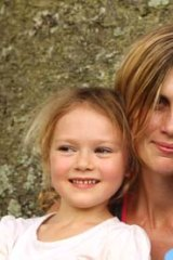 Grief: Brodie Donegan and her children.