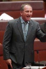 National Party senator Barnaby Joyce.