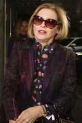 Harsh words: Gai Waterhouse arriving at the inquiry.