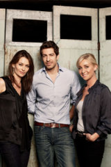 Kat Steward, Don Hany and Asher Keddie star in Channel Ten's latest series, Offspring.