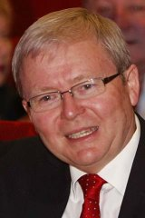 Not challenging: Kevin Rudd.