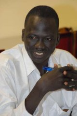 Escaped the horrors of civil war in Sudan to be reunited with his parents in Sydney: Majok Tulba.