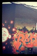 Some of the suburb's graffiti art.