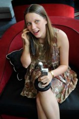 New talent: Brenna Harding on Monday with her Logie.