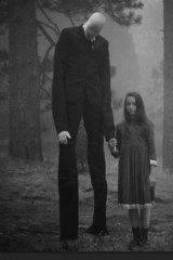 An image of the imaginary bogyman Slenderman.