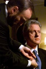 US President Bill Clinton prepares for his confessional speech to the nation in 1998.