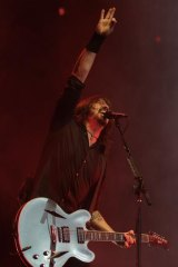 Foo Fighter Dave Grohl plays AAMI's first ticketed rock show.