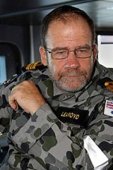 Baffled: Recently retired Lieutenant Commander Barry Learoyd.