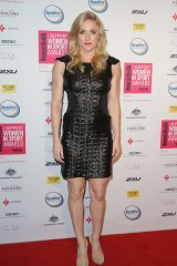 Sally Pearson arrives for the awards ceremony on Monday.