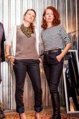 Models Jen Dubois and Karen Brennan wearing the new women's jeans by local label Corr Blimey.