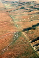 Russian target number 2: The San Andreas fault line, here pictured on the Carrizo Plain in California.