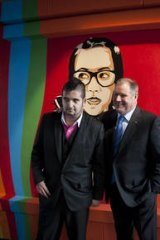 The two Doyles: Artist Adrian Doyle and lord mayor Robert Doyle.