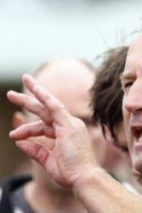 Successive victories: Frankston coach Simon Goosey on Saturday.