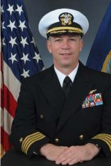 In trouble ... Navy Captain Owen Honors is shown in an official portrait.