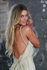 Jennifer Hawkins, the face of Myer, has been a big part of the ''buy Myer'' push.
