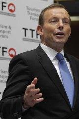 Slip-up ... Tony Abbott.