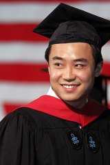 Bo Guagua, son of fallen Chinese politician Bo Xilai, receiving his masters degree in public policy.