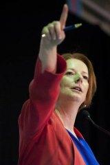 On the front foot ... Julia Gillard.