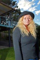 Shocked: Rhonda Bennic, at her rental property at Terrigal.