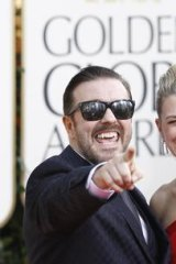 Ricky Gervais and his partner Jane Fallon.